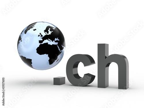 3D Domain ch mit Weltkugel