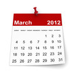 Calendar 2012 - March