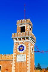 Big tower of Venetian Arsenal, Italy