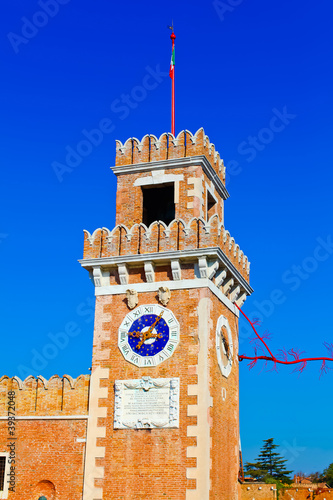Big tower of Venetian Arsenal, Italy