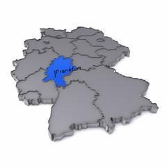 Karte - Hessen - Frankfurt am Main