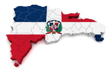 3D Map of Dominican Republic