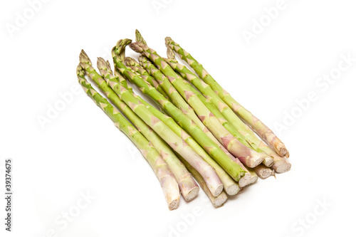Asparagus isolated on a white studio background.