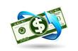 Arrow around Dollar Note