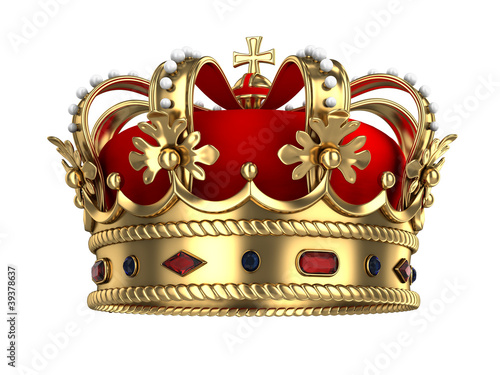 Leinwanddruck Bild Royal Gold Crown