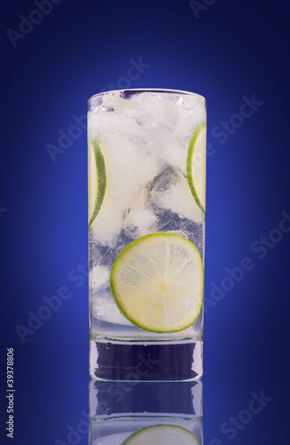 mojito isolated on blue