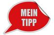 SP-Sticker rot curl oben MEIN TIPP