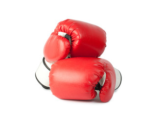 Boxing gloves isolate