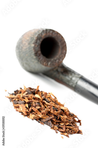 Dry tobacco and pipe
