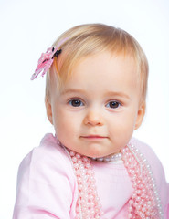 Portrait of an adorable baby girl