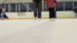 Girl Learning How To Ice Skate