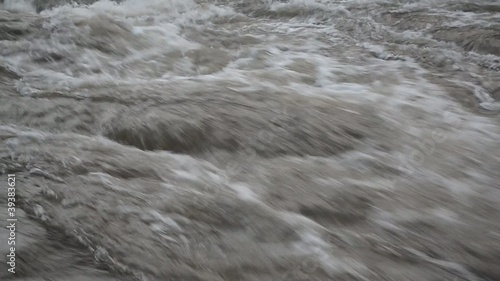 Fast flowing dark wild water