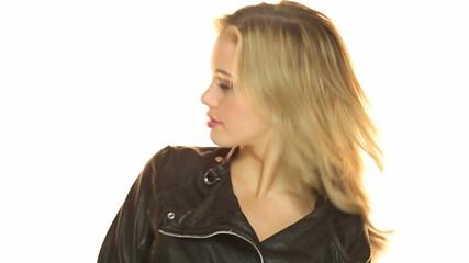 Sexy Girl Wearing Black Jacket