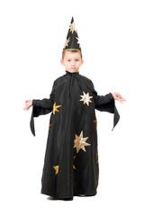 Little boy dressed as astrologer
