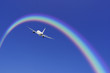 Aeroplane And Rainbow