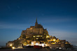 Mont Saint-Michel at midnight. Paris France