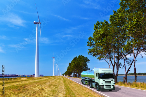 Windkraft und Transport