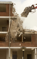 Demolishing of a block of flats