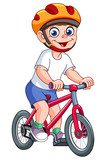 Fototapety Kid on bicycle