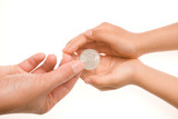 Giving a coin