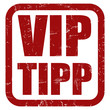 Grunge Stempel rot VIP TIPP