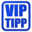 Stempel blau glas VIP TIP