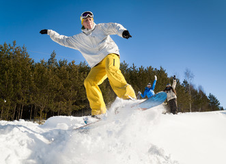 oung snowboarder