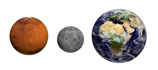 Erde, Mond und Mars - Earth Texture by NASA.gov
