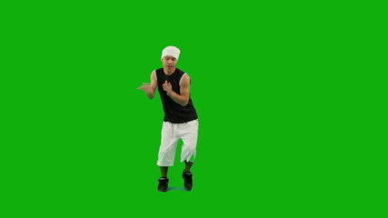 Guy Dancing Hip-Hop Green Screen