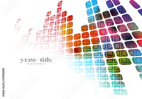 colored abstract background with squares