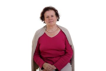 Ernsthafte Seniorin