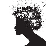 Woman face silhouette - 39401899