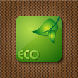 eco green logo icon / button
