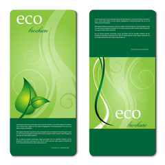 eco promotion brochure with diverse logo green elements