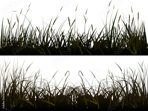 Background of realistic meadow grass.