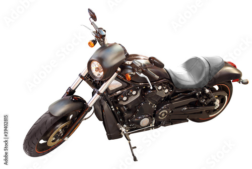 black fast and power motorcycle isolated