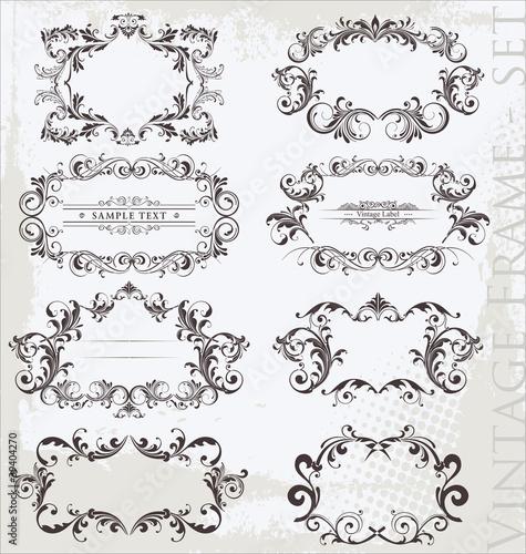 Vintage frames - set