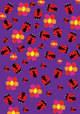 Ladybugs and flowers