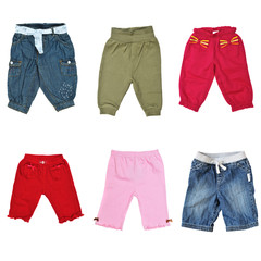 collage of pants for baby