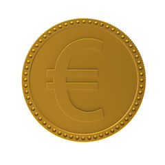 Coin with sign of euro. 3d render XL