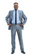 Full length portrait of a happy businessman standing