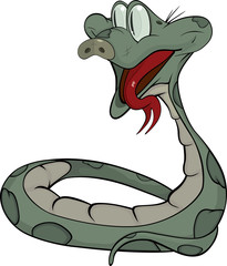 Snake. Cartoon