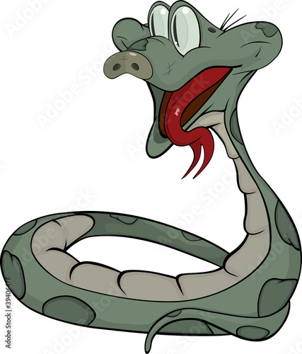 Snake. Cartoon
