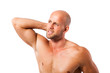 Sportler mit Nackenschmerzen