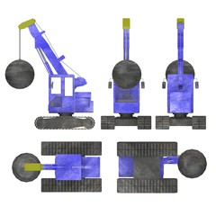 3d render of destruction crane