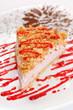 cake with strawberry ice cream