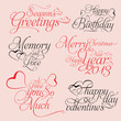 Holidays Text Vector