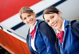 Friendly air hostesses