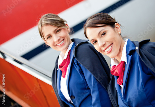 Friendly air hostesses