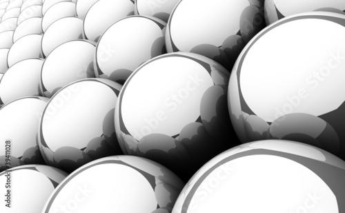 Silver reflection balls background 4 © styleuneed